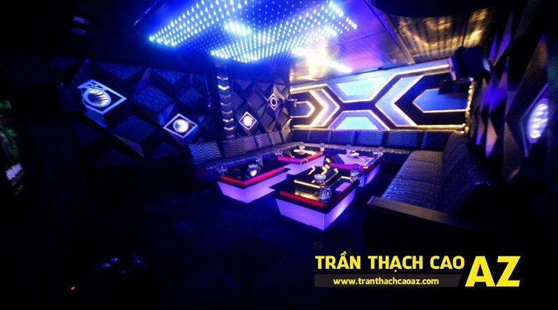 Loạt mẫu trần thạch cao phòng karaoke đẹp cá tính, ấn tượng, bắt mắt