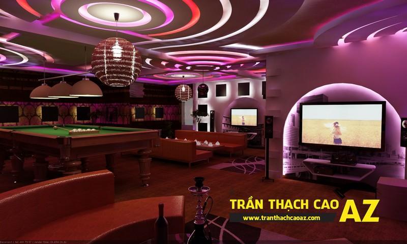 Mẫu trần thạch cao phòng karaoke đẹp cá tính, ấn tượng -02