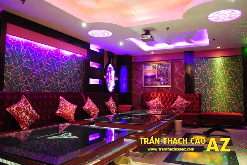 Mẫu trần thạch cao phòng karaoke đẹp cá tính, ấn tượng -03