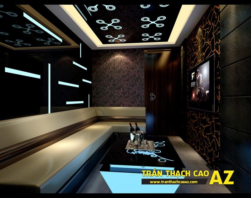 Mẫu trần thạch cao phòng karaoke đẹp cá tính, ấn tượng -10