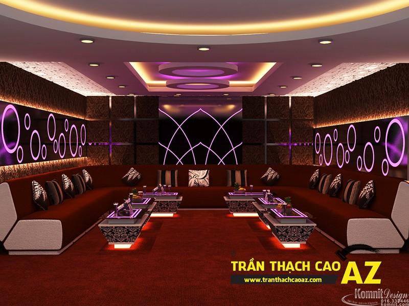 Mẫu trần thạch cao phòng karaoke đẹp cá tính, ấn tượng -04
