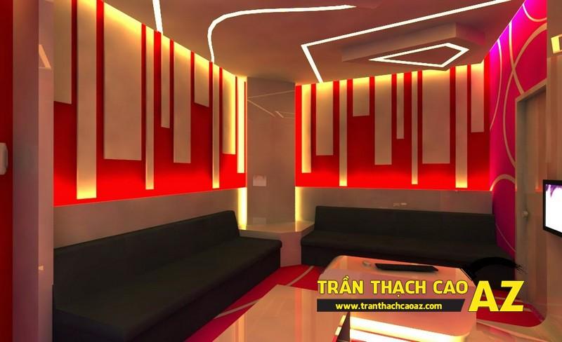 Mẫu trần thạch cao phòng karaoke đẹp cá tính, ấn tượng -09