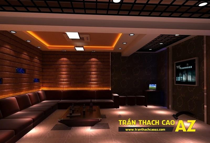 Mẫu trần thạch cao phòng karaoke đẹp cá tính, ấn tượng -12