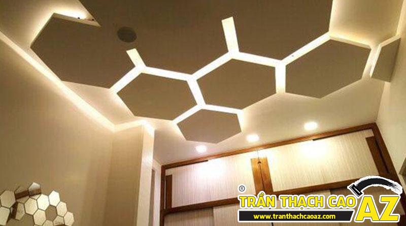 Mẫu trần thạch cao phòng khách đẹp cho không gian nhỏ, và cực nhỏ