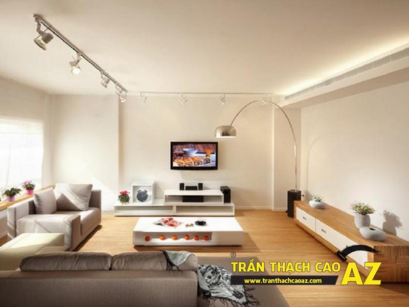 Mẫu trần thạch cao phòng khách đẹp cho không gian nhỏ, và cực nhỏ 05