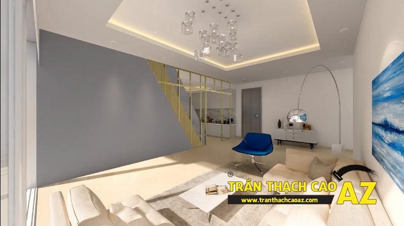 Mẫu trần thạch cao phòng khách đẹp cho không gian nhỏ, và cực nhỏ 16