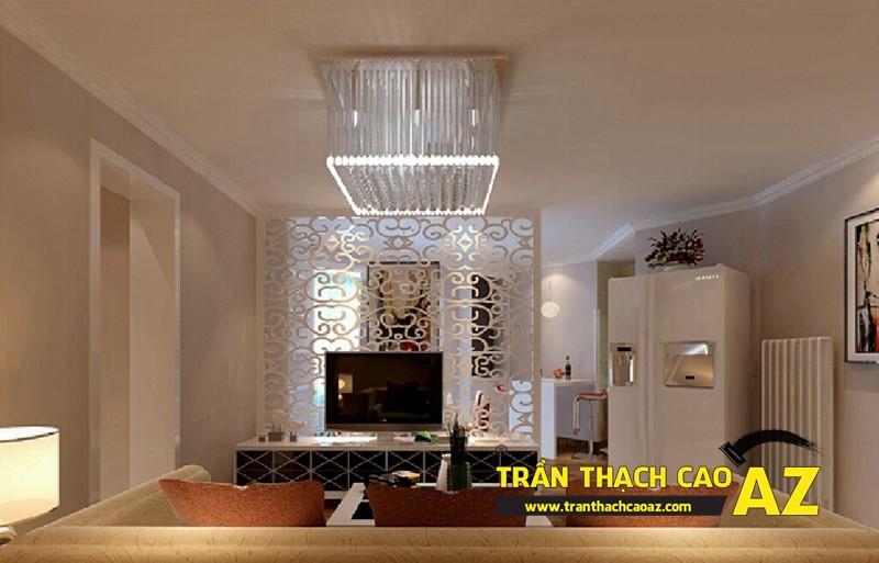 Mẫu trần thạch cao phòng khách đẹp cho không gian nhỏ, và cực nhỏ 12
