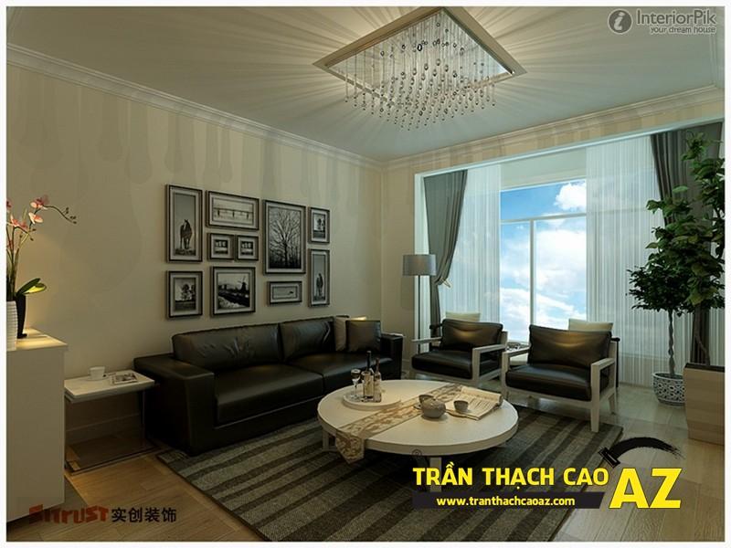 Mẫu trần thạch cao phòng khách đẹp cho không gian nhỏ, và cực nhỏ 11