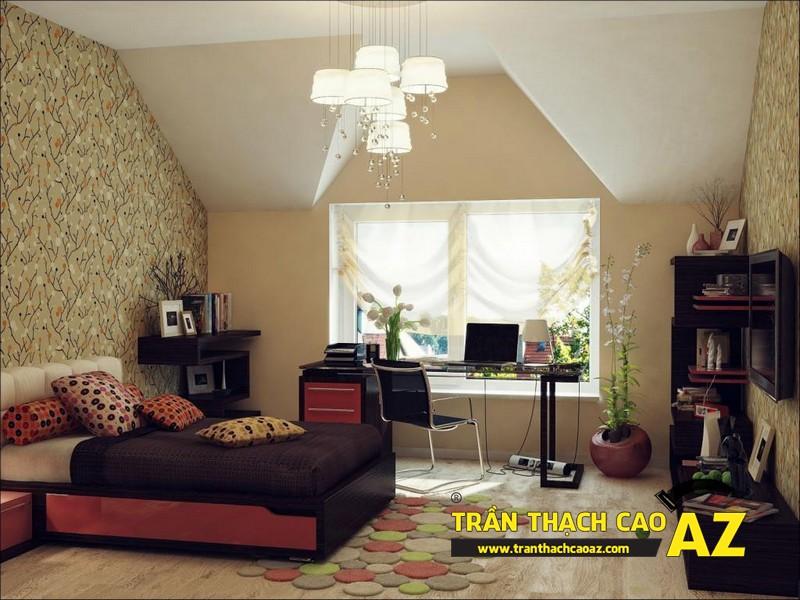 Mẫu trần thạch cao phòng khách đẹp cho không gian nhỏ, và cực nhỏ 08