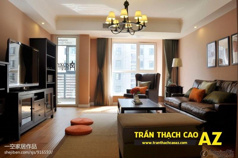 Mẫu trần thạch cao phòng khách đẹp cho không gian nhỏ, và cực nhỏ 09