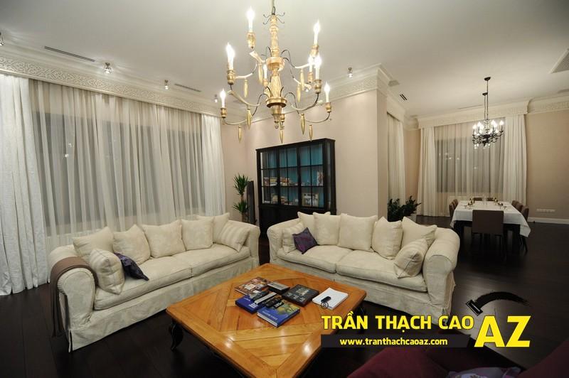 Mẫu trần thạch cao phòng khách đẹp cho không gian nhỏ, và cực nhỏ 10