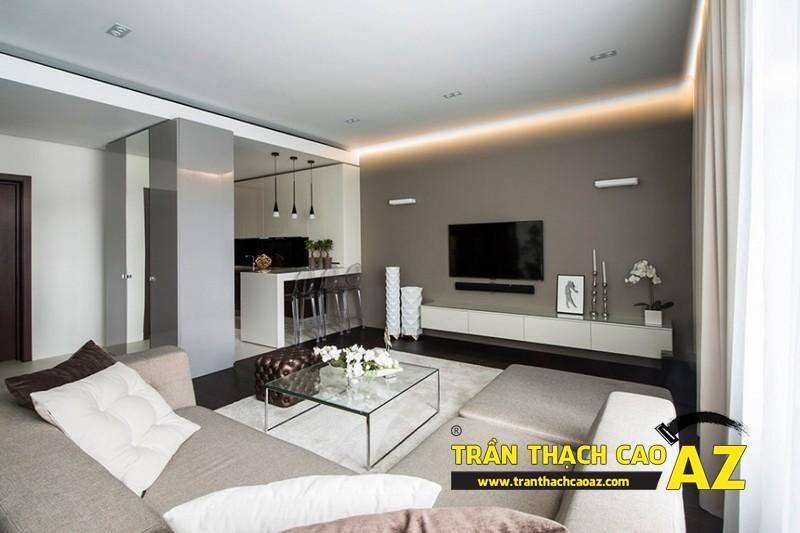 Mẫu trần thạch cao phòng khách đẹp cho không gian nhỏ, và cực nhỏ 14