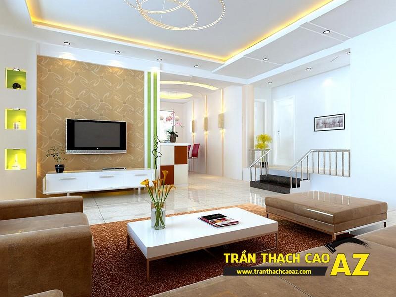 Mẫu trần thạch cao phòng khách đẹp cho không gian nhỏ, và cực nhỏ 13
