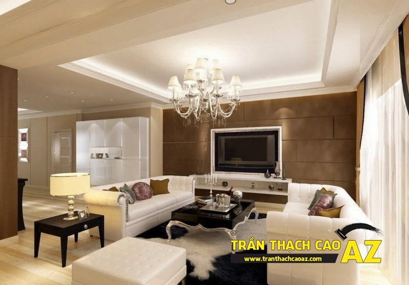 Mẫu trần thạch cao phòng khách đẹp mê ly 10