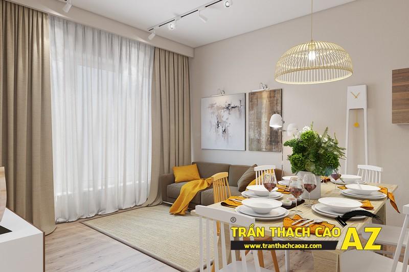 Mẫu trần thạch cao phòng khách đẹp mê ly 01