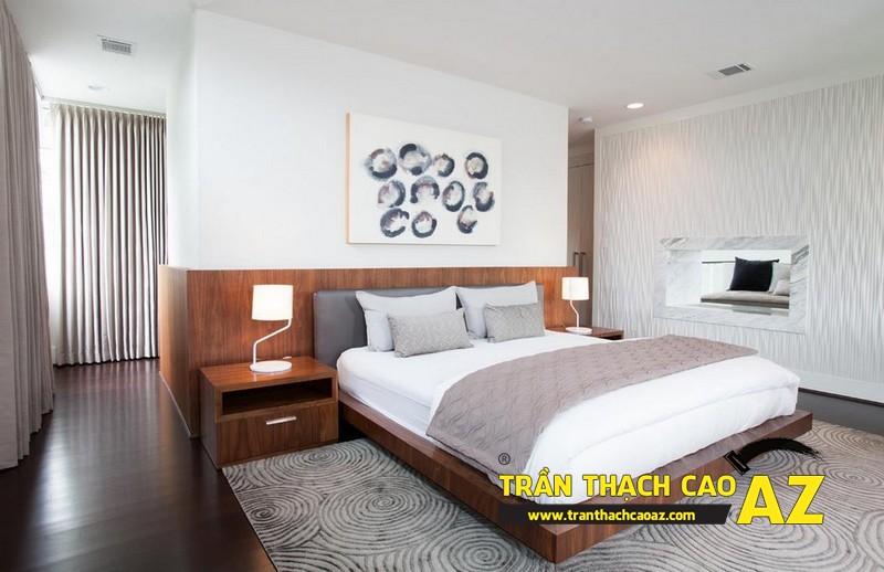 Mẫu trần thạch cao phòng ngủ đẹp đến nao lòng 05