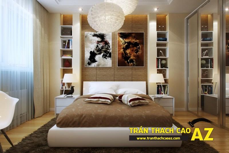Mẫu trần thạch cao phòng ngủ nhỏ đẹp lung linh hết nấc 09