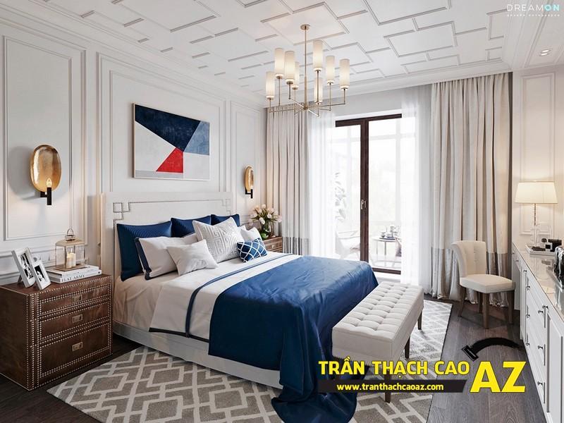 Mẫu trần thạch cao phòng ngủ nhỏ đẹp lung linh hết nấc 11