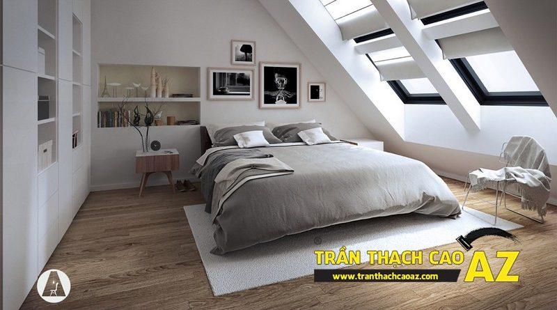 Top 10 mẫu trần thạch cao phòng ngủ tầng gác mái đẹp điêu đứng