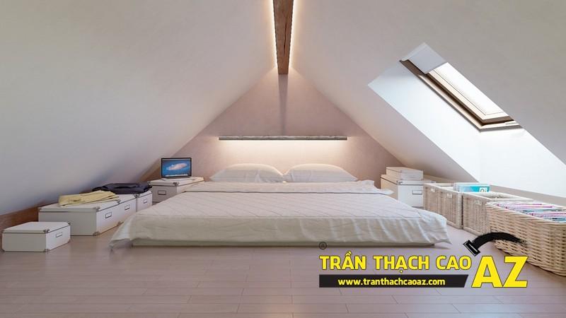 Mẫu trần thạch cao phòng ngủ tầng gác mái đẹp điêu đứng 02