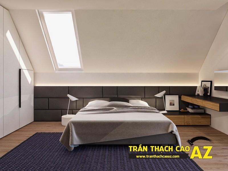 Mẫu trần thạch cao phòng ngủ tầng gác mái đẹp điêu đứng 03