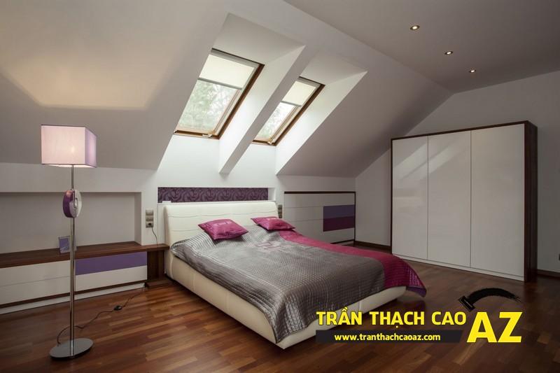 Mẫu trần thạch cao phòng ngủ tầng gác mái đẹp điêu đứng 04