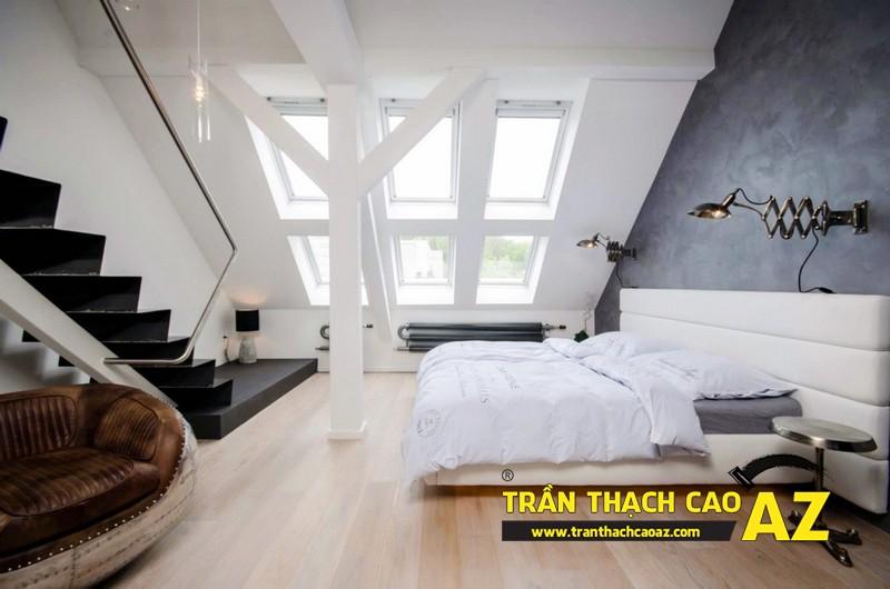 Mẫu trần thạch cao phòng ngủ tầng gác mái đẹp điêu đứng 05