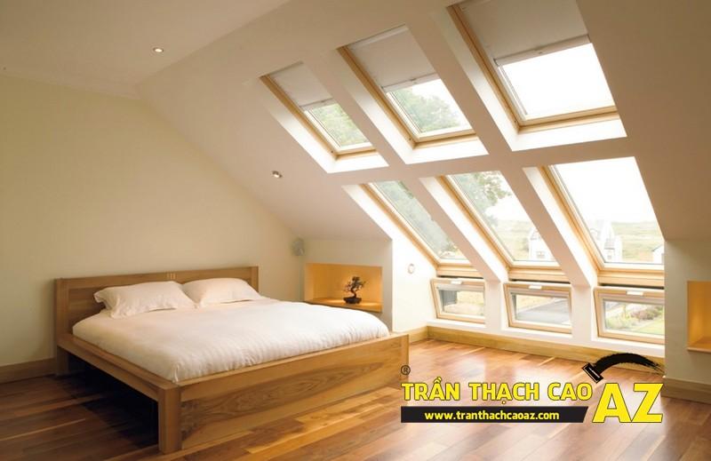 Mẫu trần thạch cao phòng ngủ tầng gác mái đẹp điêu đứng 09