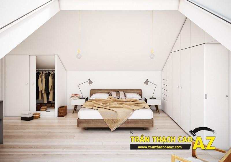 Mẫu trần thạch cao phòng ngủ tầng gác mái đẹp điêu đứng 06