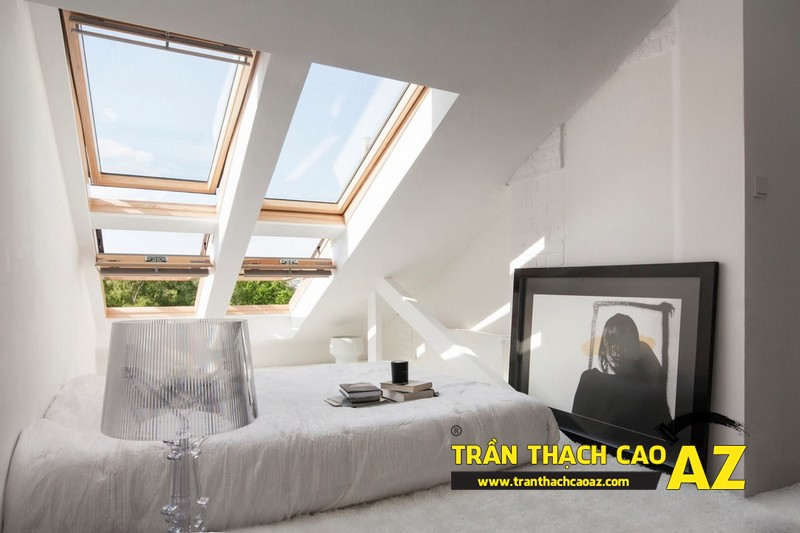 Mẫu trần thạch cao phòng ngủ tầng gác mái đẹp điêu đứng 07