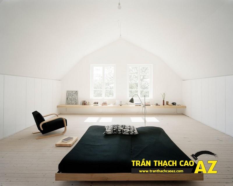 Mẫu trần thạch cao phòng ngủ tầng gác mái đẹp điêu đứng 08
