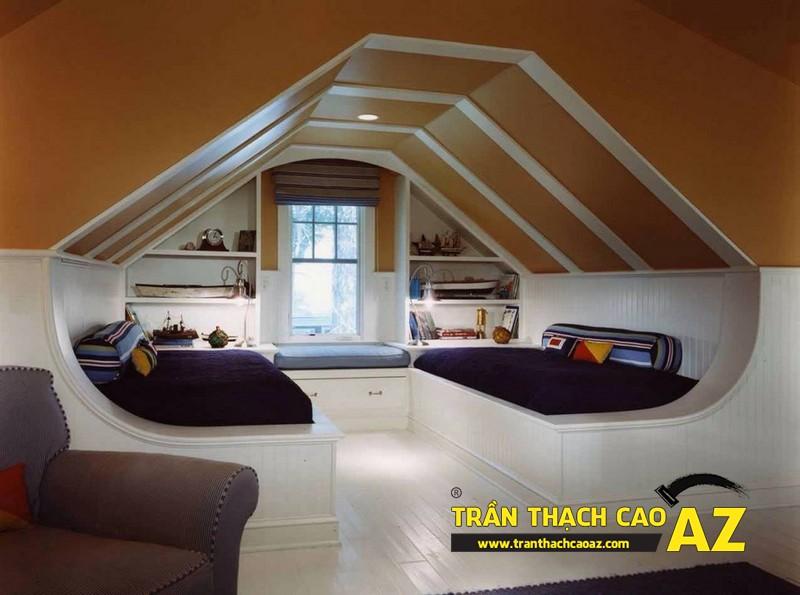 Mẫu trần thạch cao phòng ngủ tầng gác mái đẹp điêu đứng 10