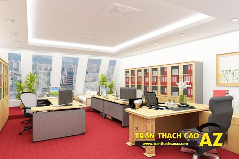 Mẫu trần thạch cao văn phòng hợp phong thủy 2016