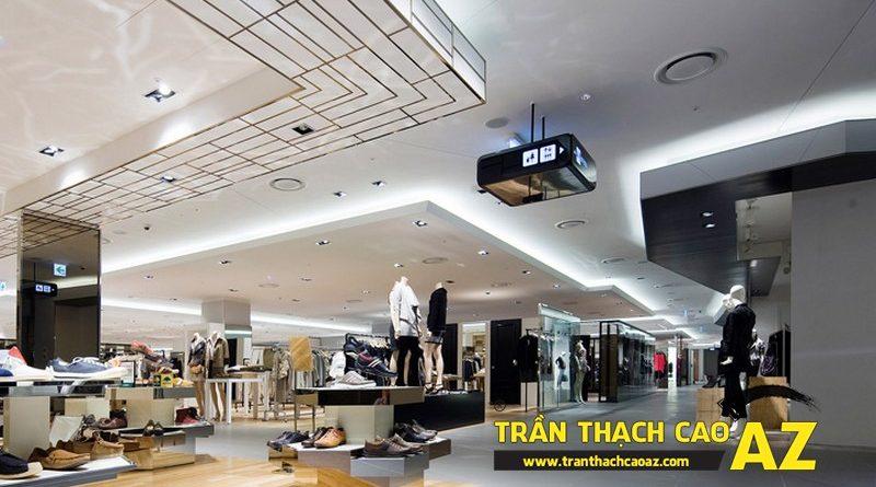 Nên làm loại trần thạch cao gì cho không gian showroom - shop?