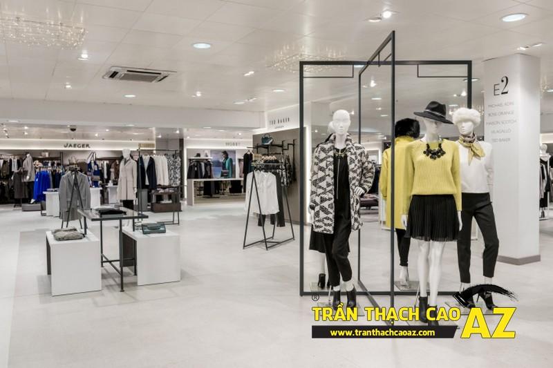 Làm loại trần thạch cao thả cho không gian showroom - shop rộng,, hoặc có yêu cầu cao về mức độ tiện dụng 01