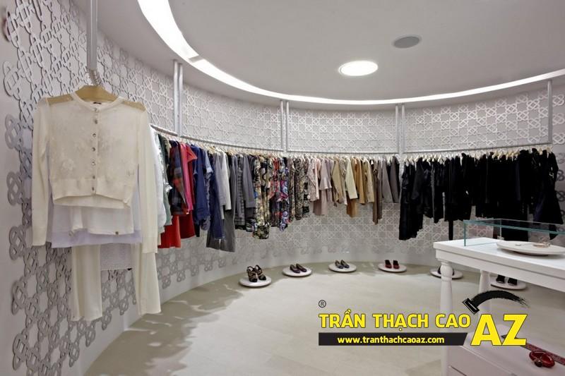 Làm loại trần thạch cao chìm cho không gian showroom - shop nhỏ, hoặc có yêu cầu tính thẩm mỹ cao 02