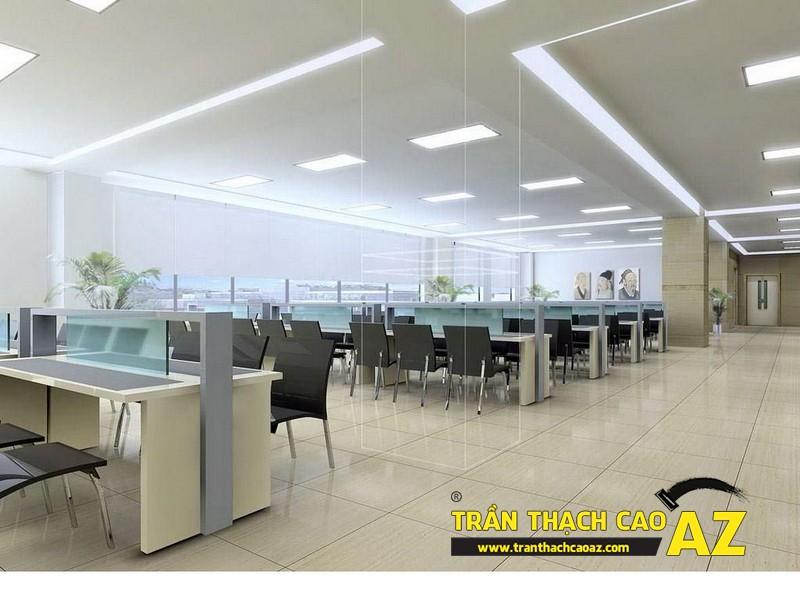 Không gian bắt buộc phải sử dụng trần thạch cao - không gian văn phòng