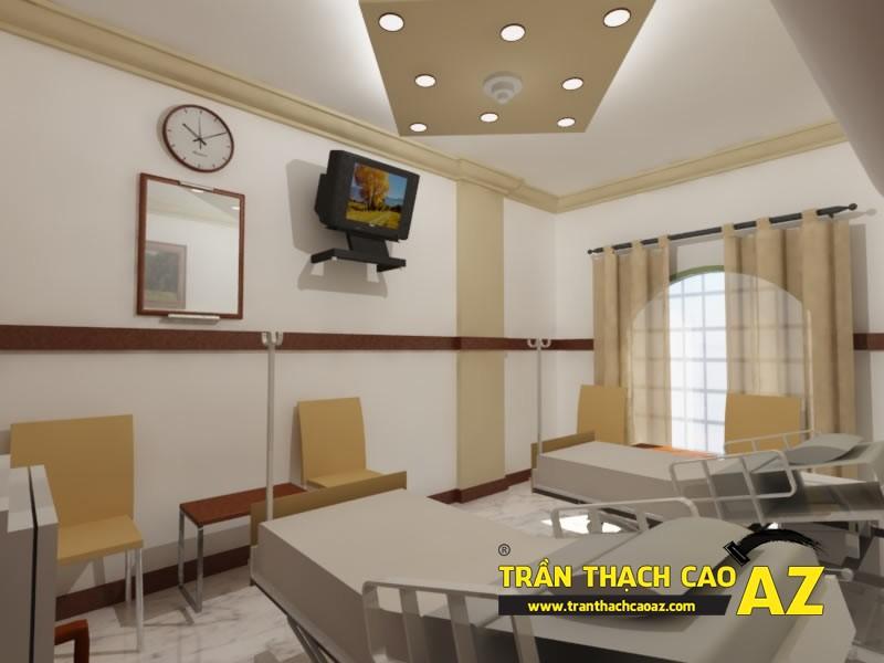 Không gian bắt buộc phải sử dụng trần thạch cao - không gian spa, bệnh viện...