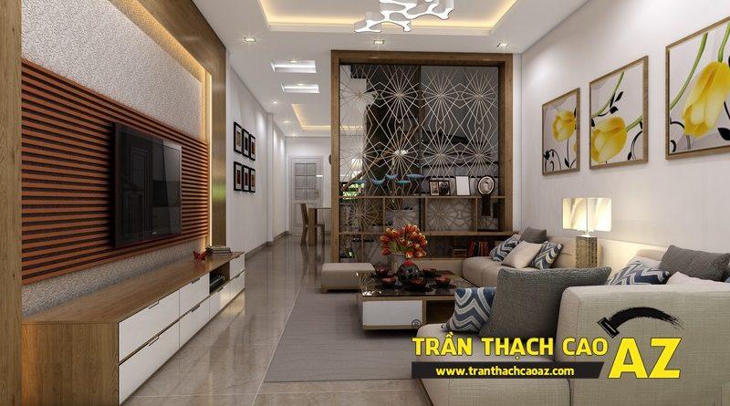 Phương án thiết kế trần thạch cao nhà ống đẹp của gia đình anh Hoàng ngõ 27, Chùa Bộc