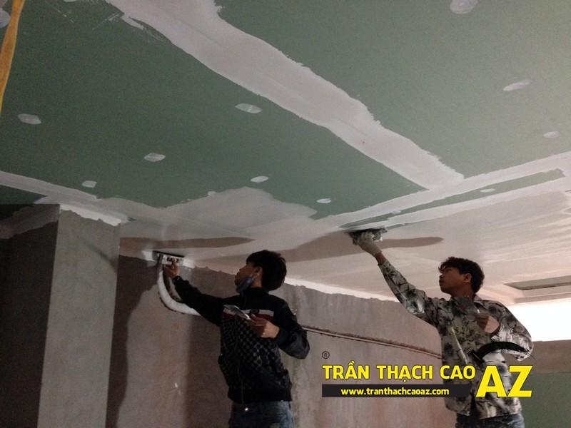 Thi công sơn bả matit trần thạch cao phòng bếp nhà anh Nhâm 06