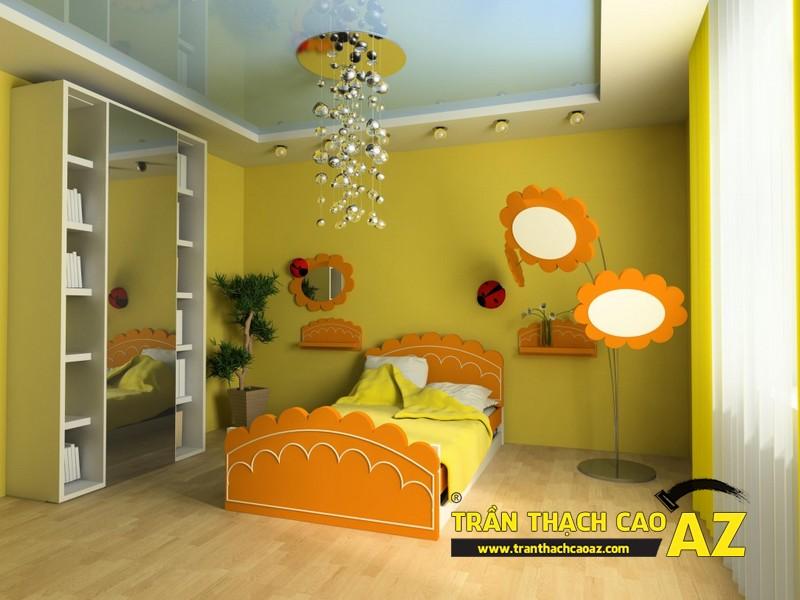 Tạo hình ngộ nghĩnh, đáng yêu của trần thạch cao phòng ngủ trẻ em 04