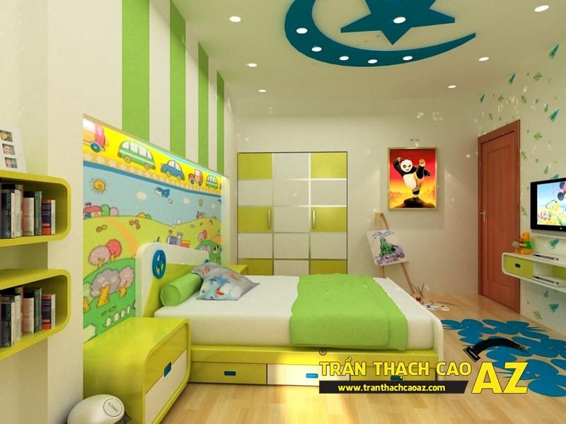 Tạo hình ngộ nghĩnh, đáng yêu của trần thạch cao phòng ngủ trẻ em 03