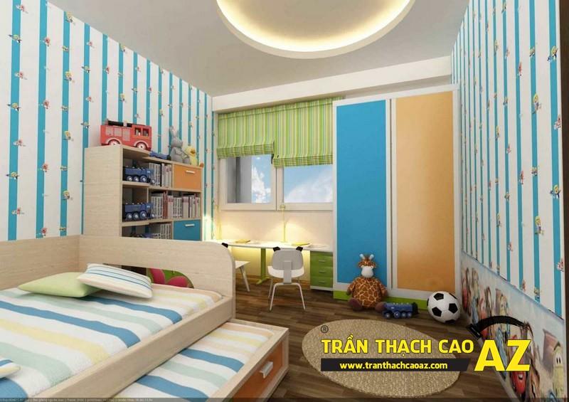 Tạo hình ngộ nghĩnh, đáng yêu của trần thạch cao phòng ngủ trẻ em 02