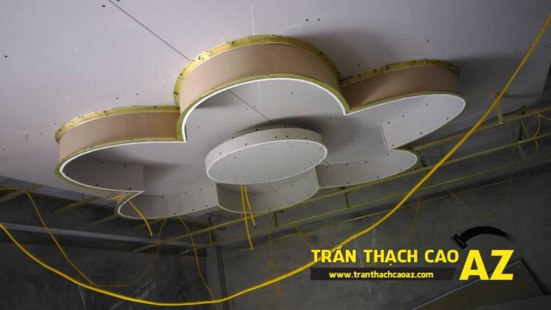 Thi công trần thạch cao cho nhà chị Mỹ tại Thanh Trì, Hà Nội