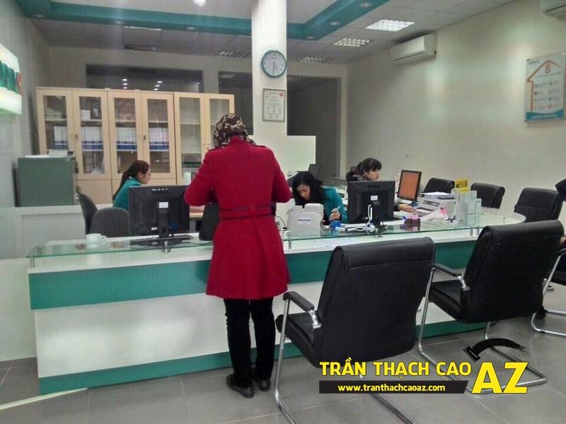 Nhận thi công trần thạch cao cho trụ sở ngân hàng