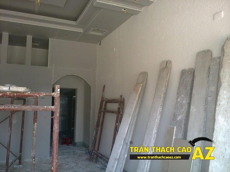 Thi công trần thạch cao nhà anh Bảo tại Mão Điền, Thuận Thành, Bắc Ninh