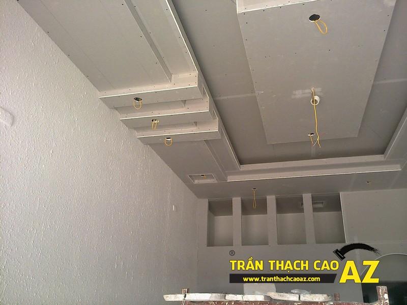 Thi công trần thạch cao nhà anh Chiến tại Sóc Sơn, Hà Nội