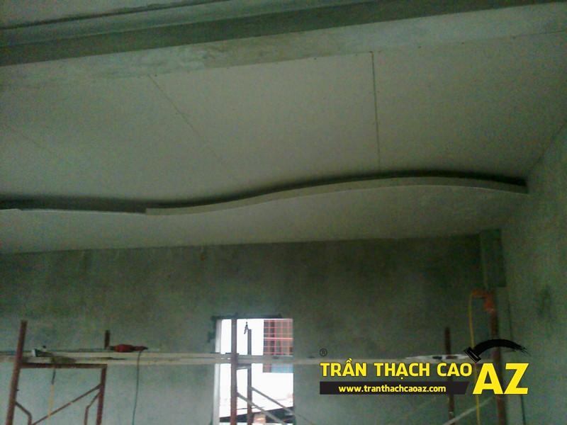 Thi công trần thạch cao nhà chú Dũng, phố Nguyễn Hoàng, Nam Từ Liêm, Hà Nội