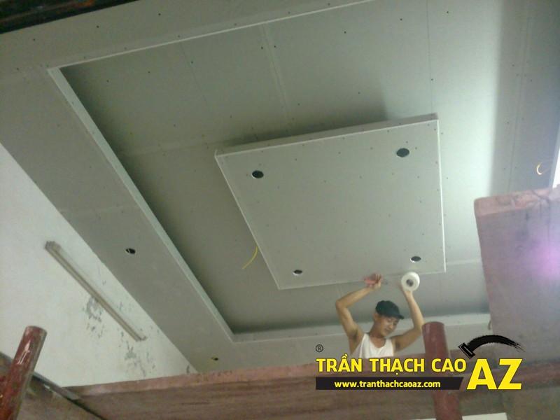 Thi công trần thạch cao nhà chú Tú tại Yên Hòa, Cầu Giấy
