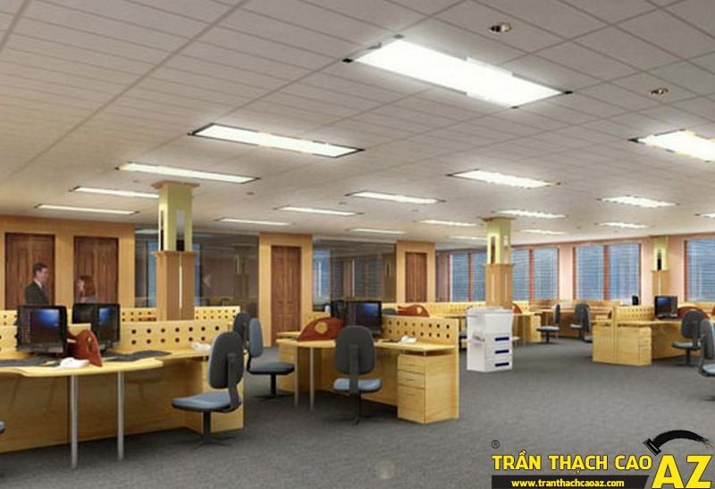 Kỹ thuật thi công trần thạch cao nổi cho không gian văn phòng đẹp nhất 02